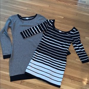 🌟2 black and white sweater dresses🌟